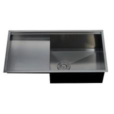 Single under counter sink, left drain board